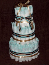 Three Tier Stuffed Diaper Cake For A Boy