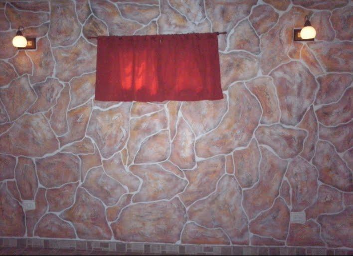 Imitaci n piedra laja pintura y decoraci n - Pintura imitacion piedra ...