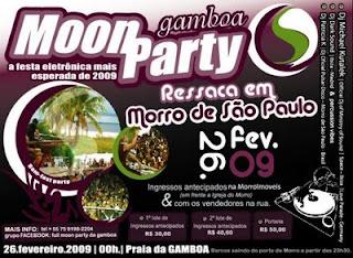 festa da lua cheia na Gamboa