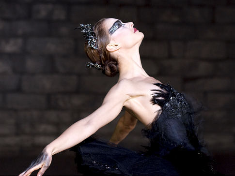 Beautiful Natalie Portman dancing the part of the Black Swan