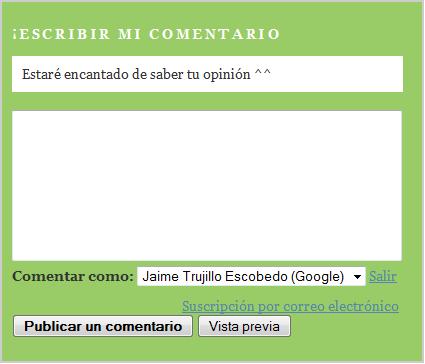 Modificar o personalizar el formulario de comentarios