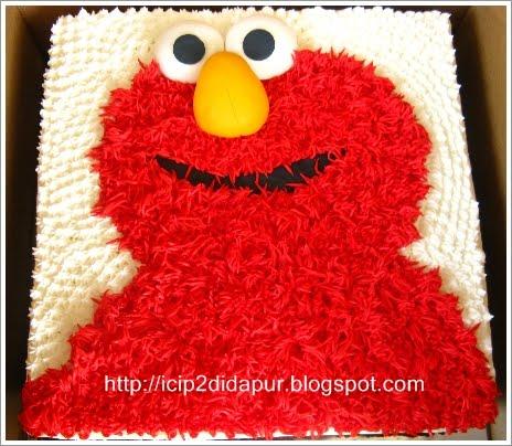 ICIP-ICIP DI DAPUR: Red Velvet Cake (Elmo Birthday Cake) for Queenie