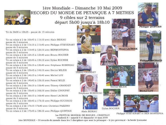 Premiere mondiale les 8,9 et 10 mai 2009