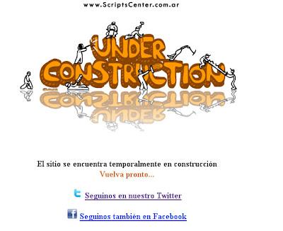 """Template web """"Sitio en Construccion"""" UnderConstrucciong"""