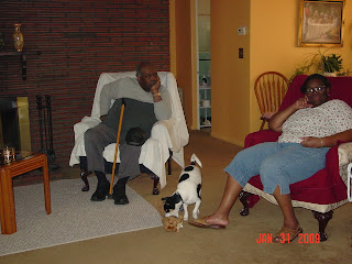 Lloyd, Speedy and Claudia at her house