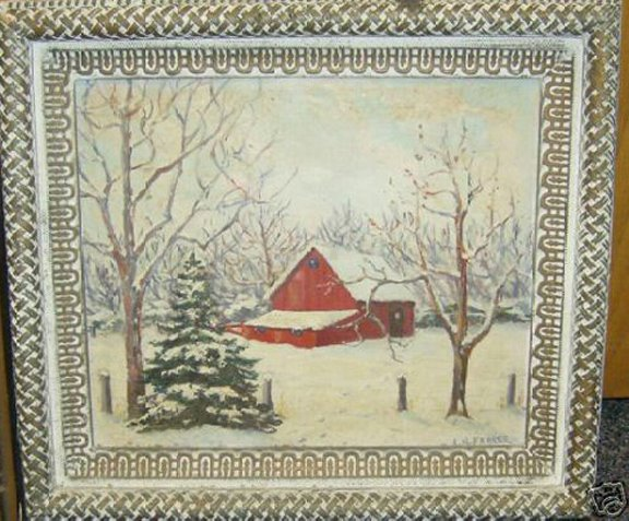Painting by Cornelia Hart Farrer of Boise, Idaho