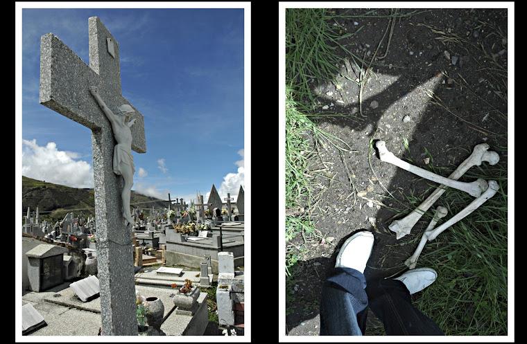 El cementerio.
