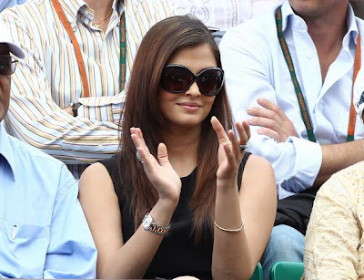 Aishwarya Rai at French Open Men's Final
