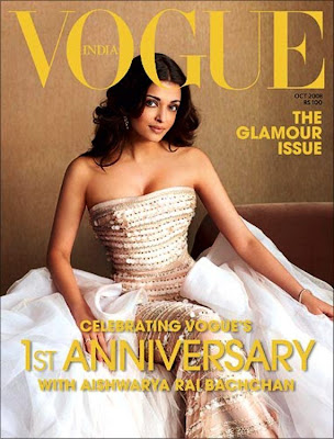 Aishwarya rai vogue magazine on october 2008
