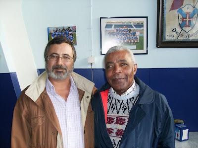 João Pela com o grande Vicente Lucas. Foto de Telmo Carvalho.