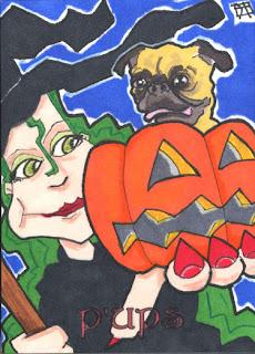 p'ups, pug, withc, halloween