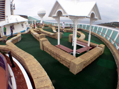 explorer of seas voyager passenger cruise ships royal caribbean carribean west indies freedom class golf course luxury swimming pool tourism tourists travel yacht sailboat casino