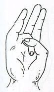 Hand mudra positions yoga Indian medicine health fitness wellbeing strength weakness strong body pranayama gestures healing mudras