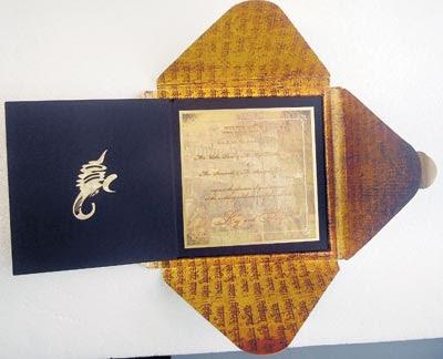 Punjabi Wedding Invitation Cards on The Wedding Card For The Shilpa Shetty Raj Kundra Marriage Was