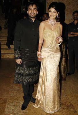 shilpa shetty reception raj kundra wedding photos