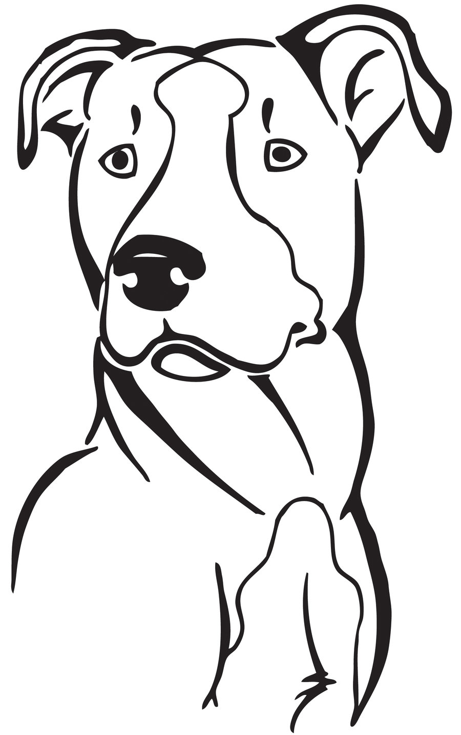Coloring pages of pit bulls