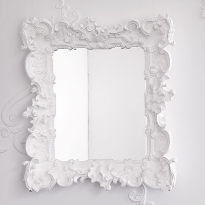 How do i love thee mirror mirror on the wall for White baroque style mirror