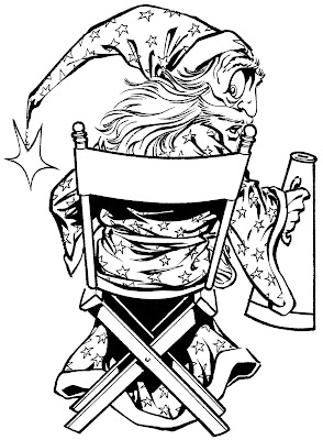 Bart Sears Wizard Mascot - Director's Chair