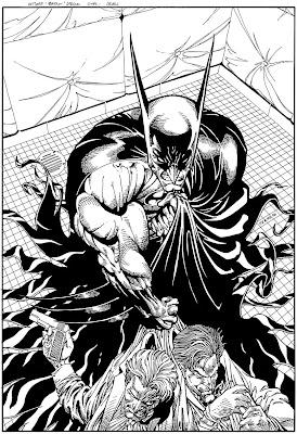Bart Sears Wizard Unused Cover - Batman v Joker & Two Face