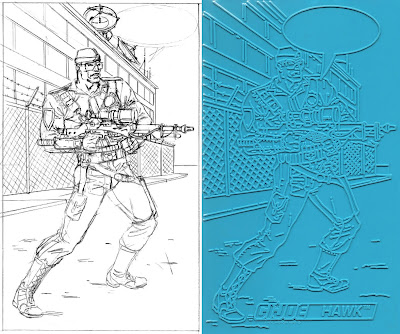 Bart Sears GI Joe Trace Plate - Hawk