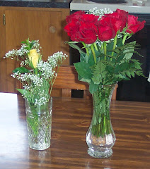 Dozen roses for me from my husband