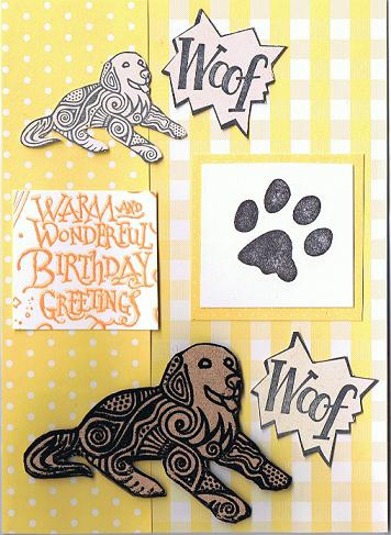 Dog Birthday card
