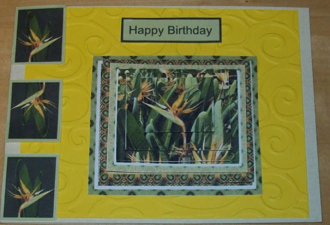 3D card - Flowers in Australia - Happy Birthday!