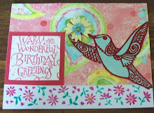 Another Hummingbird birthday card