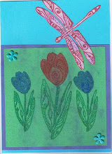 Yet another tulip & dragonfly card