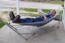 Junior relaxing in his hammock