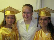 Missie & 2 of her friends that graduated from 8th grade