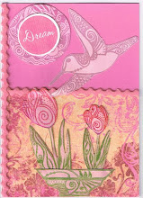 Monochromatic pink card