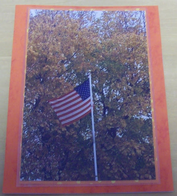 Fall scenery and flagpole!