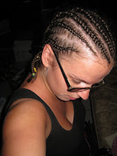 Aunt Oumou Did My Hair for Swear-In