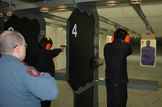 Chinese cadet shoot on an Alvin gun range