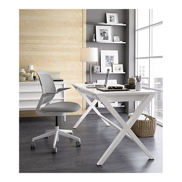 White Spotlight Desk Crate and Barrel