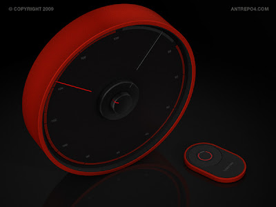 Radio with clock's dial from antrepo4.com :  dial red tuner fm