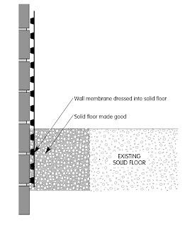 damp proof membrane to combat rising or penetrating damp - click to view enlargement