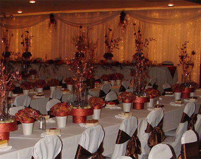 Wedding decoration decorations for wedding receptions for Cheap elegant wedding decorations