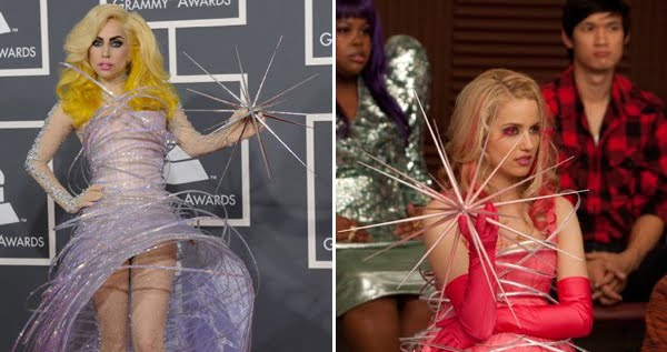 lady gaga outfits glee. the gaga/glee outfits