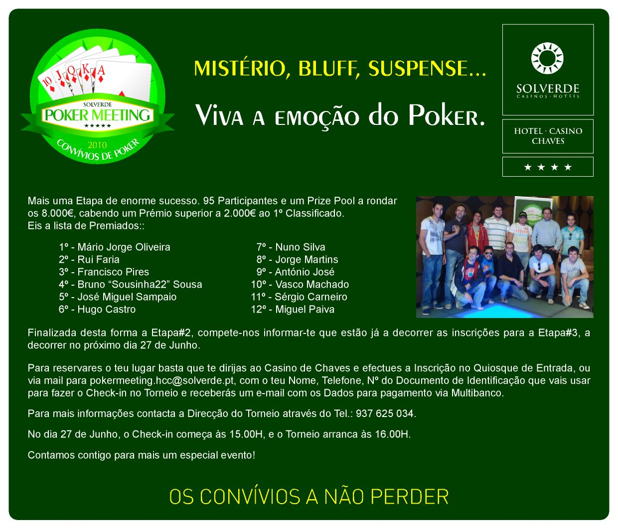 Solverde chaves poker meeting