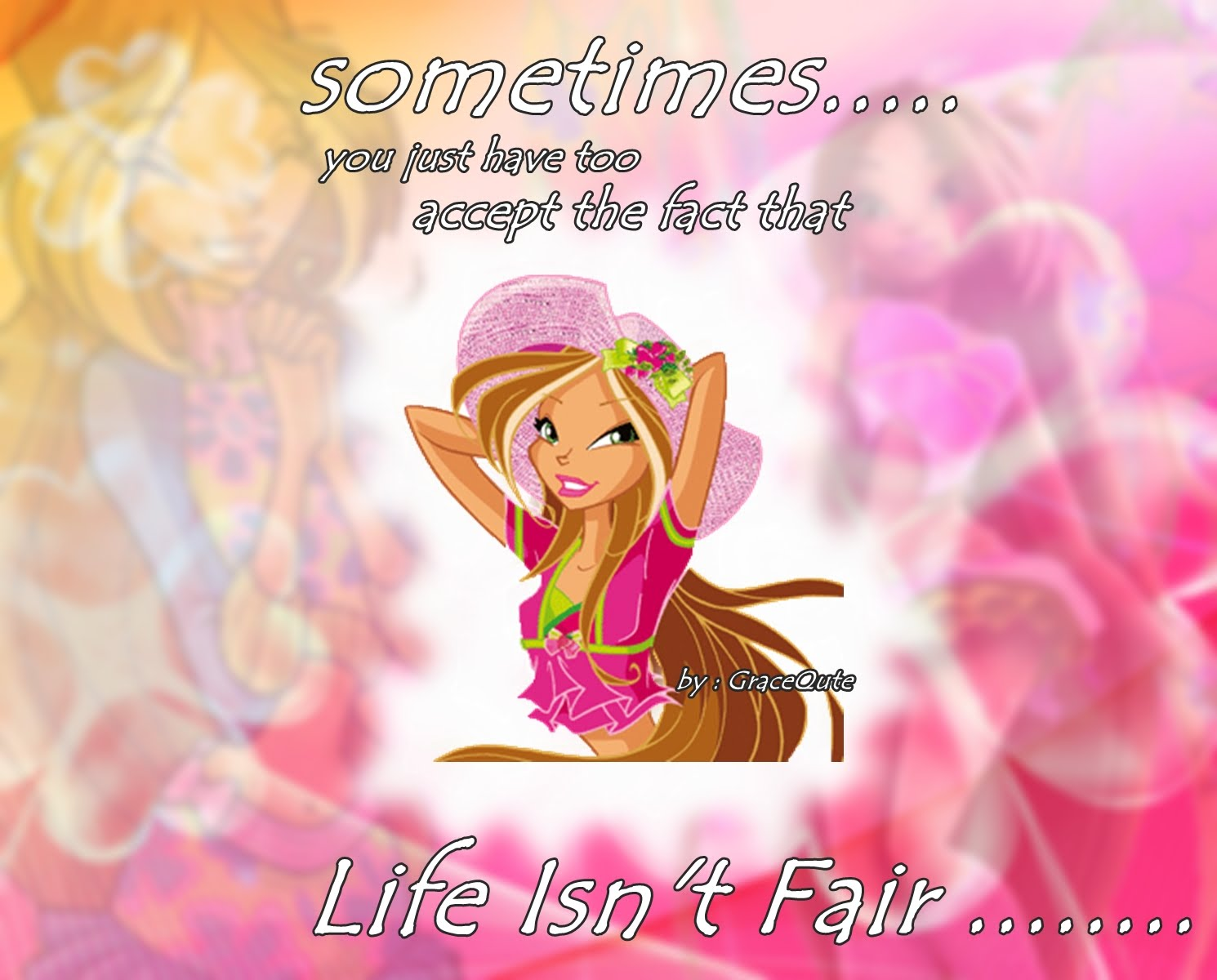 I Made A Flora From Winx Wallpaper Aka Youtube Background For My Channel This Version Of Is Bigger Size Cause Its And