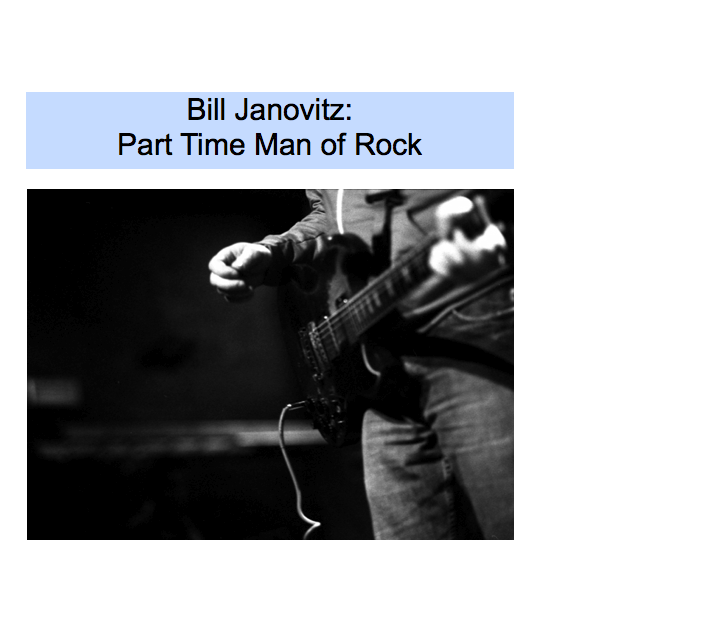 Bill Janovitz - Part Time Man of Rock