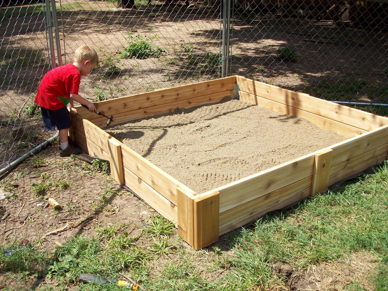 homestead roots sandbox for addies birthday could also