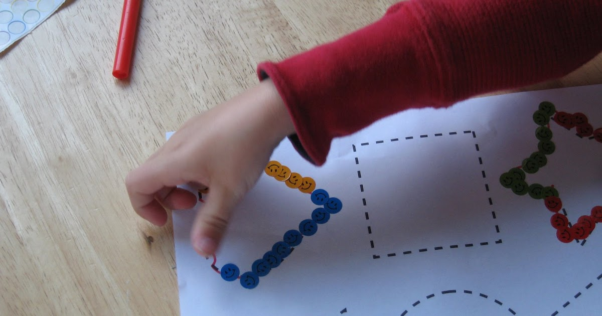 Be Brave Keep Going Preschool Activity Tracing Shapes
