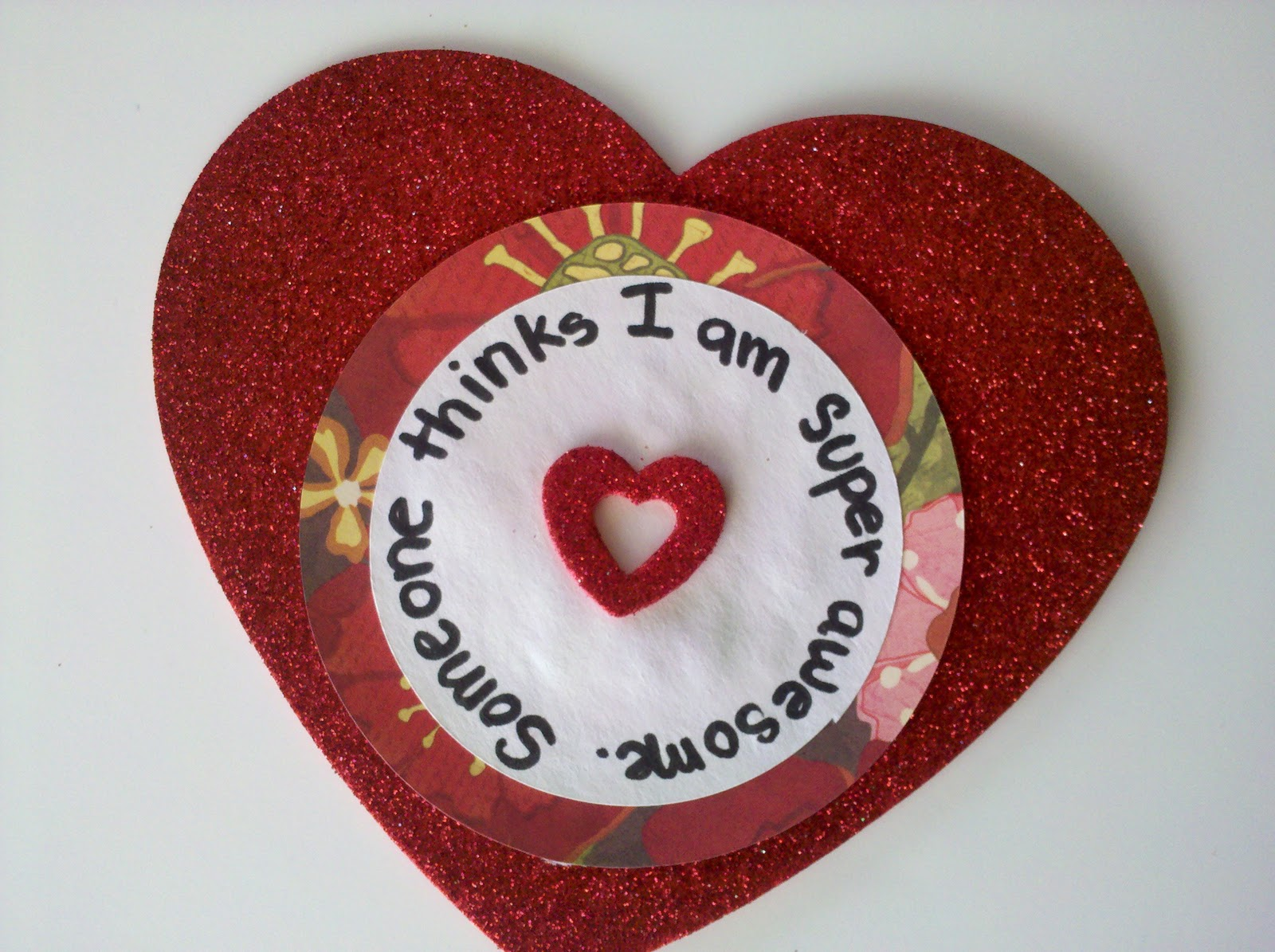 Be brave keep going valentine 39 s day easy foam heart craft for Easy heart crafts