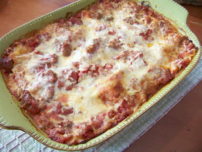Marzipan: Tomato Sausage Lasagna