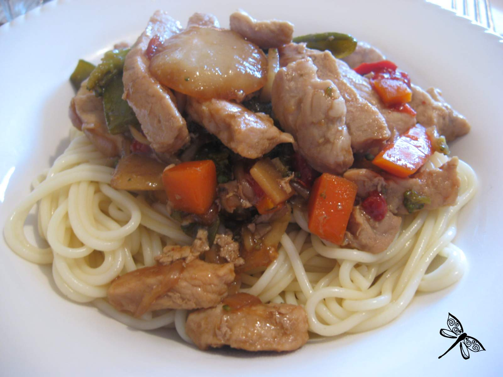 Libellule et ses spatules saut de porc et brocolis - Cuisiner le saute de porc ...