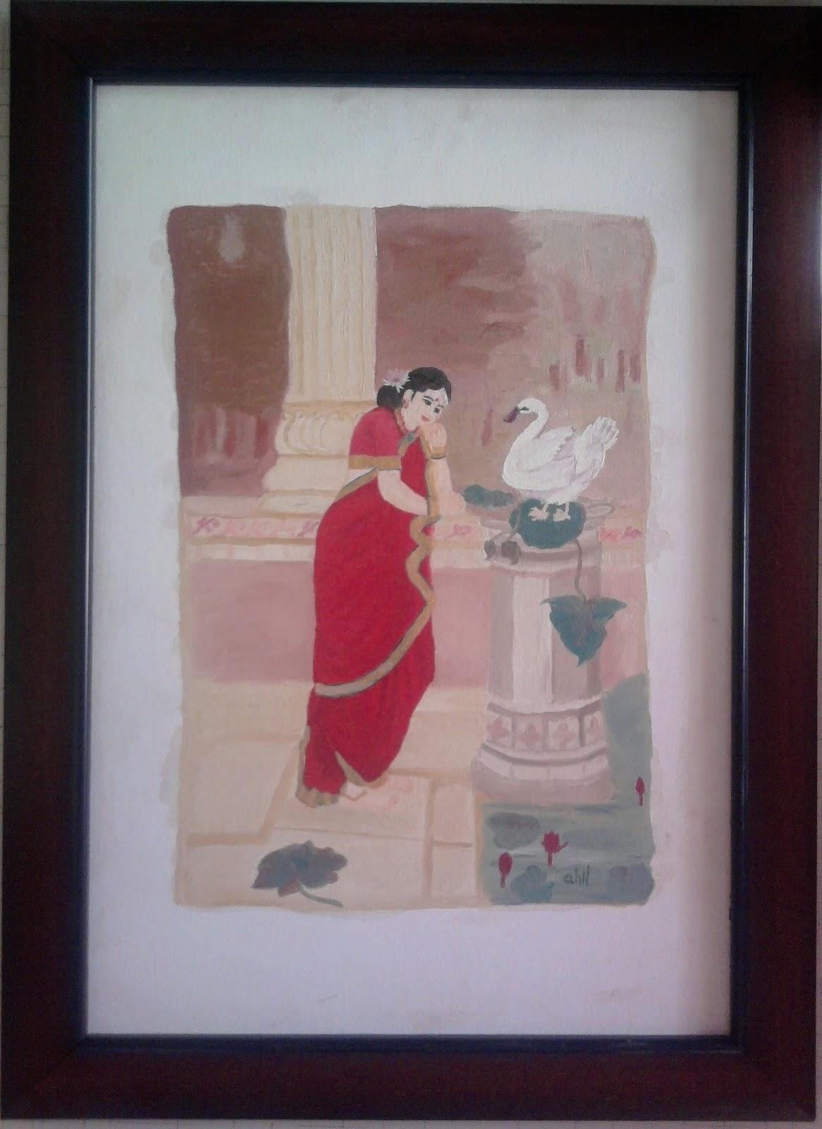 Reproduction of Ravi Varma Painting
