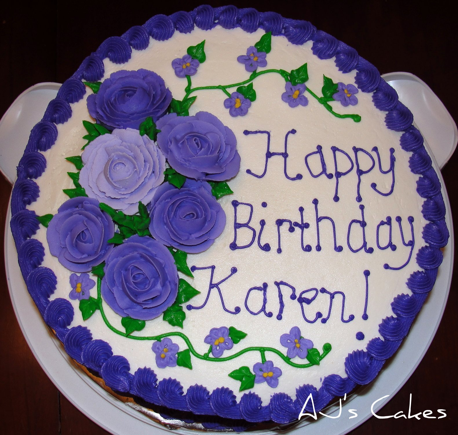 AJ s Cakes: Karen s Birthday Cake